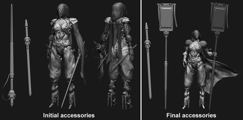 Development of the accessories and clothing
