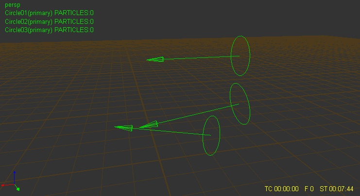 Placing the circle emitters