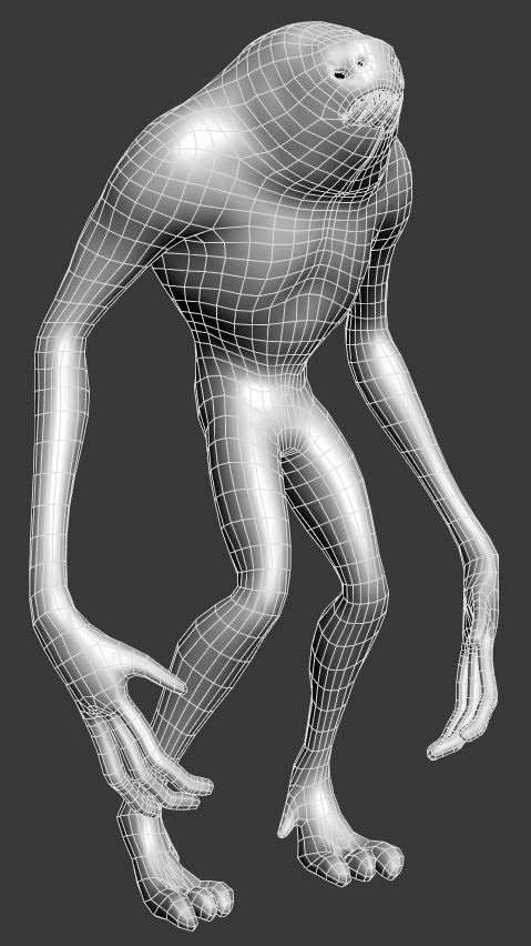 Initial base mesh created in 3ds Max