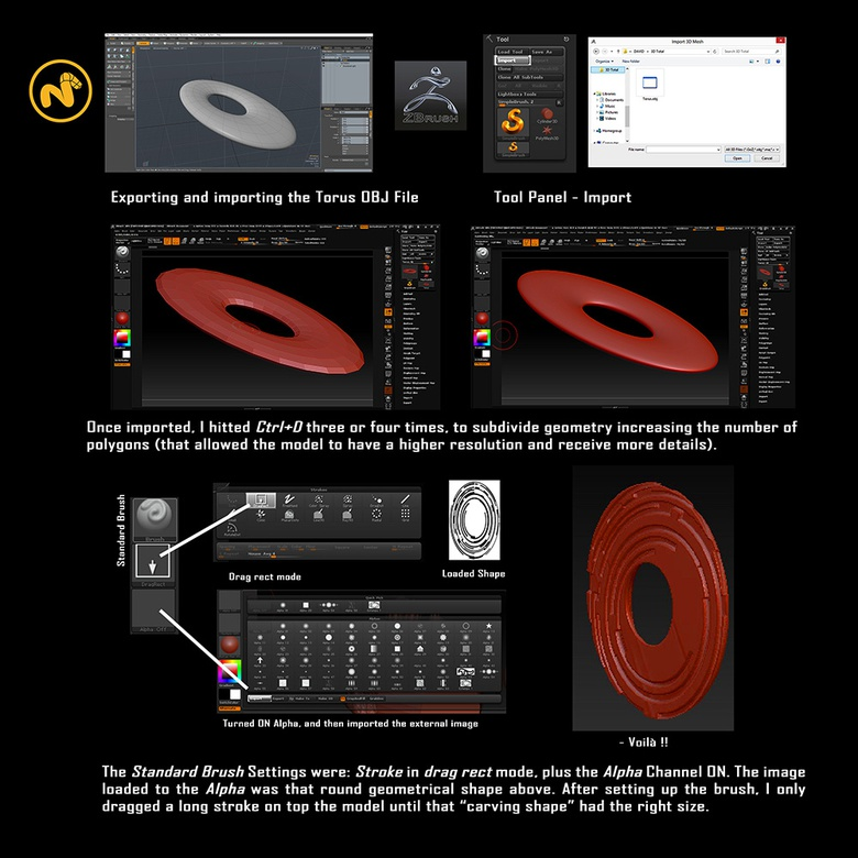 Using a Torus as a basis for sculpting in ZBrush