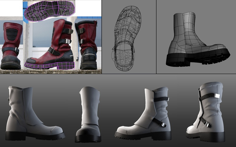 Sculpting the boots