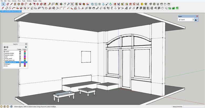 Modeling the base in SketchUp