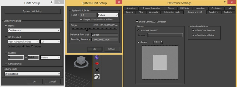 Applying the following settings in 3ds Max