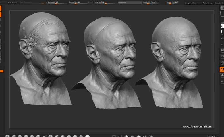 Re-projecting and re-sculpting details on the head