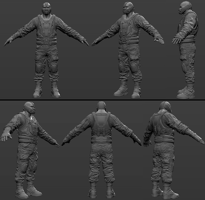 The final Bane ZBrush sculpt
