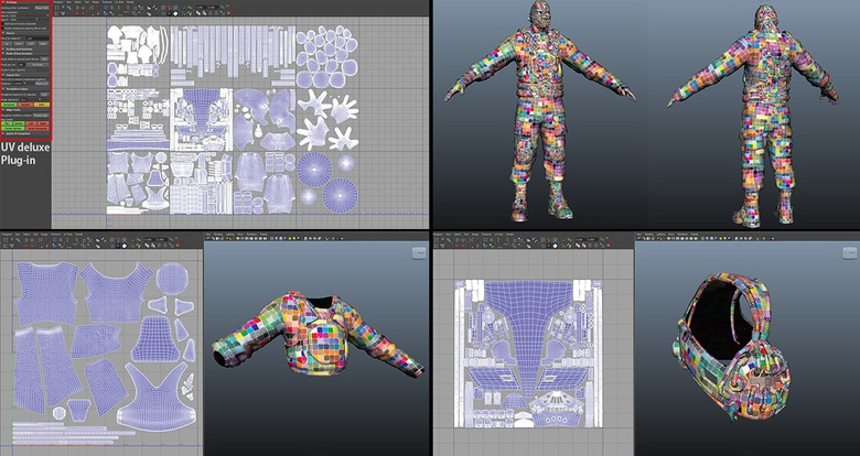 Unwrapping UVs in Headus UVLayout, and then cleaning them in Maya