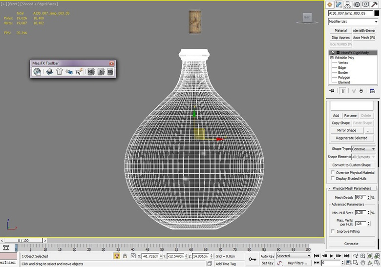 Here we set the basic parameters of the bottle