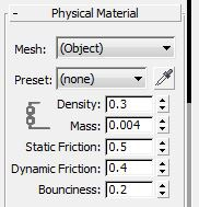 Here we adjust some of the parameters of the physical mesh of the cork