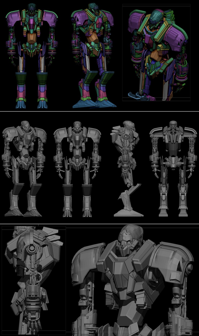 Some WIPS of the mech-creation process