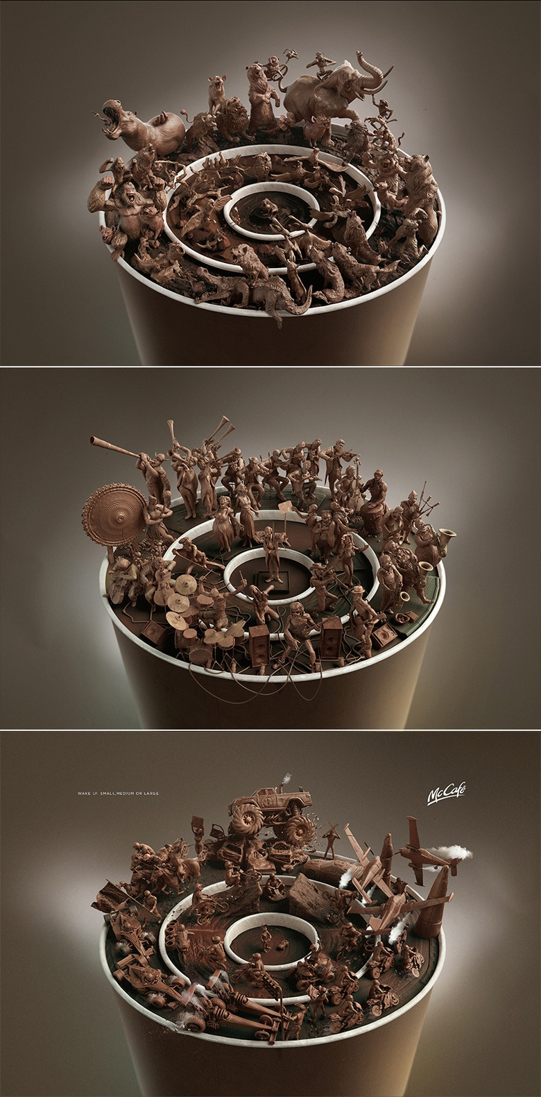 The complete set of visuals made for McDonald's