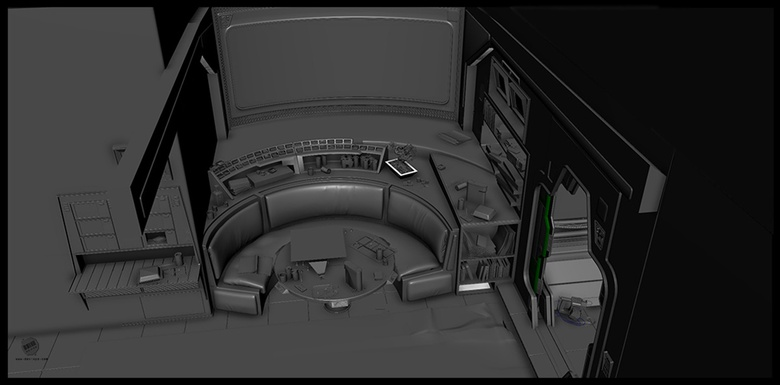 A different camera angle showing the finished set