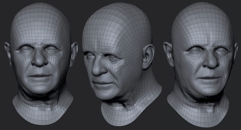 Moving into ZBrush and increasing the subdivisions to create more detail
