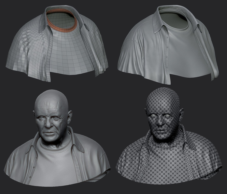 Adding the clothes inspired by the <em>Hannibal</em> movie