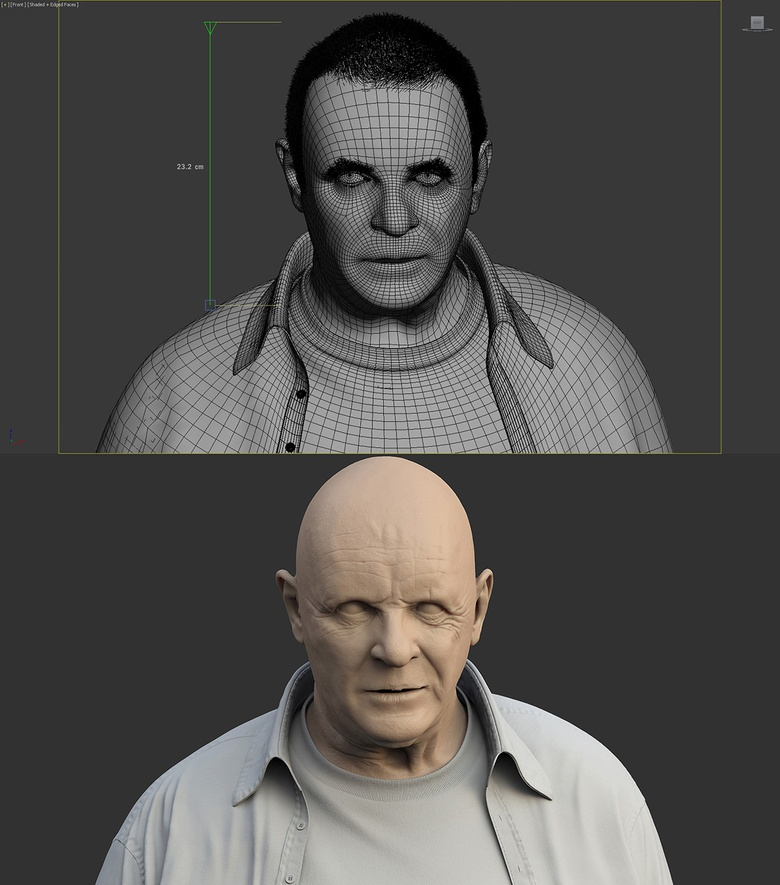 Figuring out the size of the head, and fitting the shader proportions