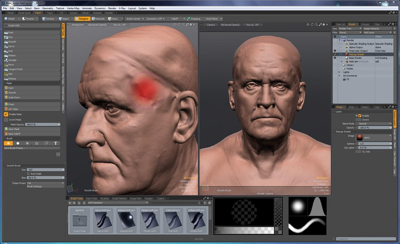 MODO provides an intuitive sculpting toolset