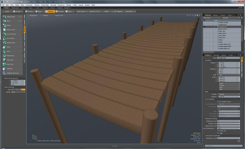 This is the wooden pier, waiting to become a background asset, which will be shot out of focus