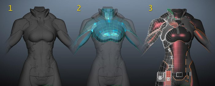 Working with high-res topology in Maya
