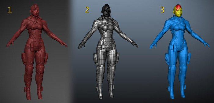 Converting the high-res model into a games version