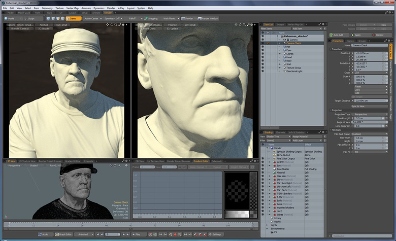 This 2-camera setup offers twice the effect of MODO's superb Preview Renderer