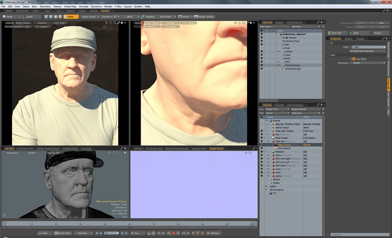 A first level of skin detail is provided by the Normal Map