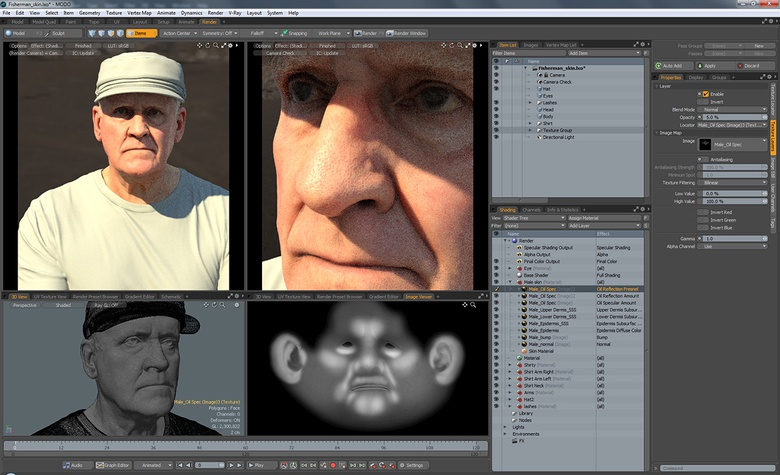 In this tutorial we take a look at the Skin material in MODO