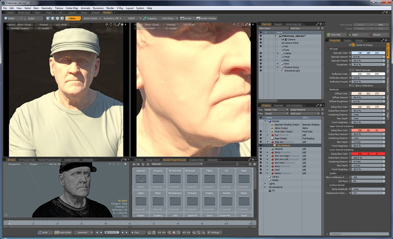 Master MODO portraits: Perfect the Skin Material and the