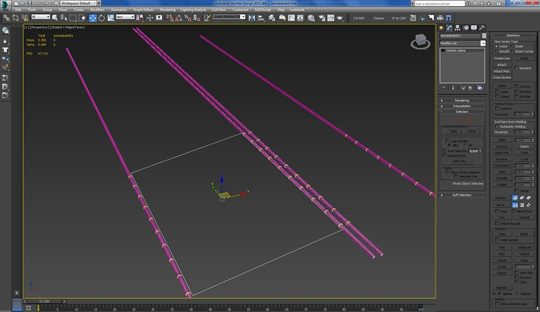 The splines for the shade screens