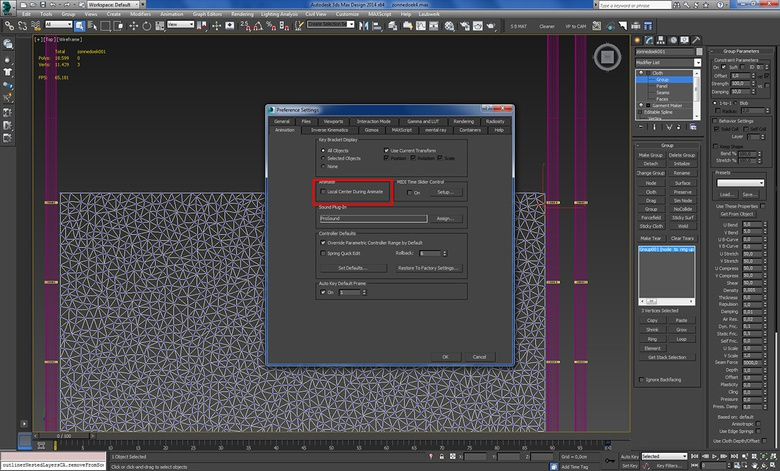Animating the shade screen