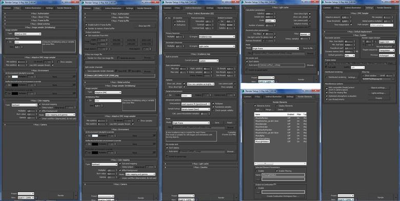 The render setup