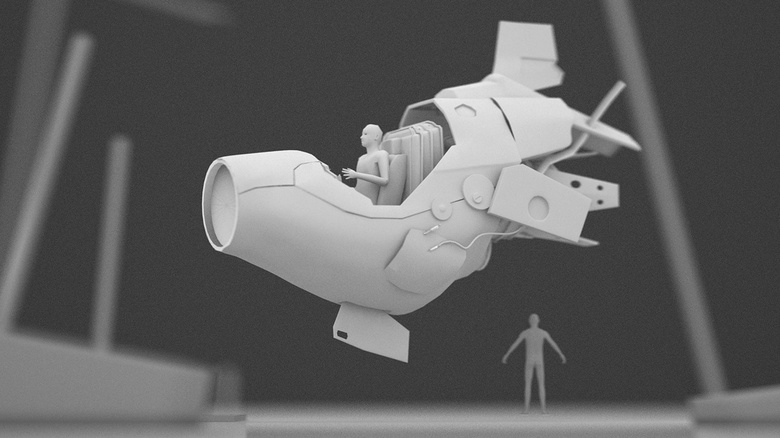 Blocking out the 3D shape in Maya