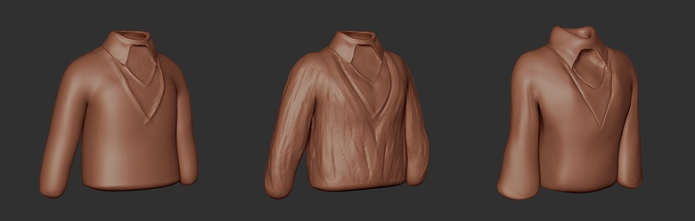 Sculpting the blouse