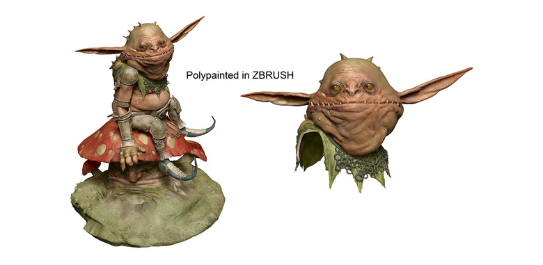 Polypainting in ZBrush