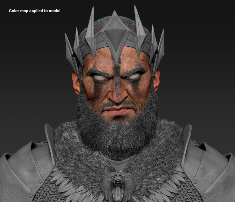 The final color map applied to the ZBrush model