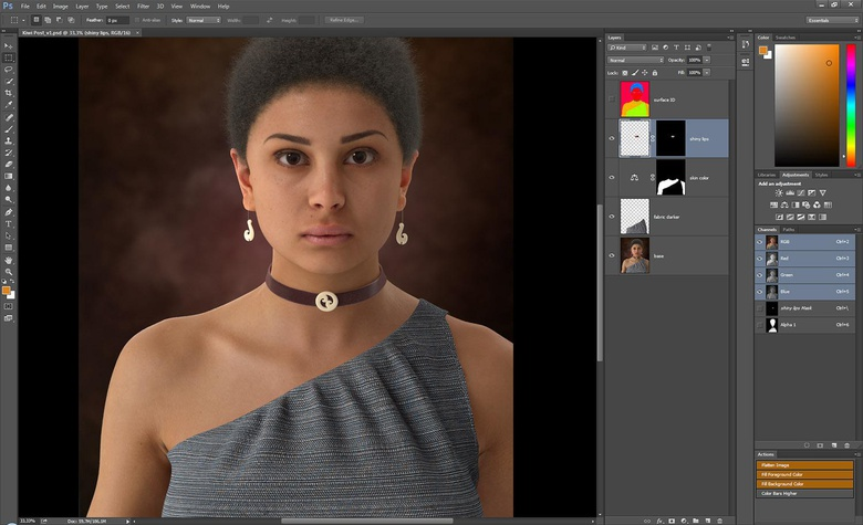 The Surface ID output is great for isolating areas and then creating masks
