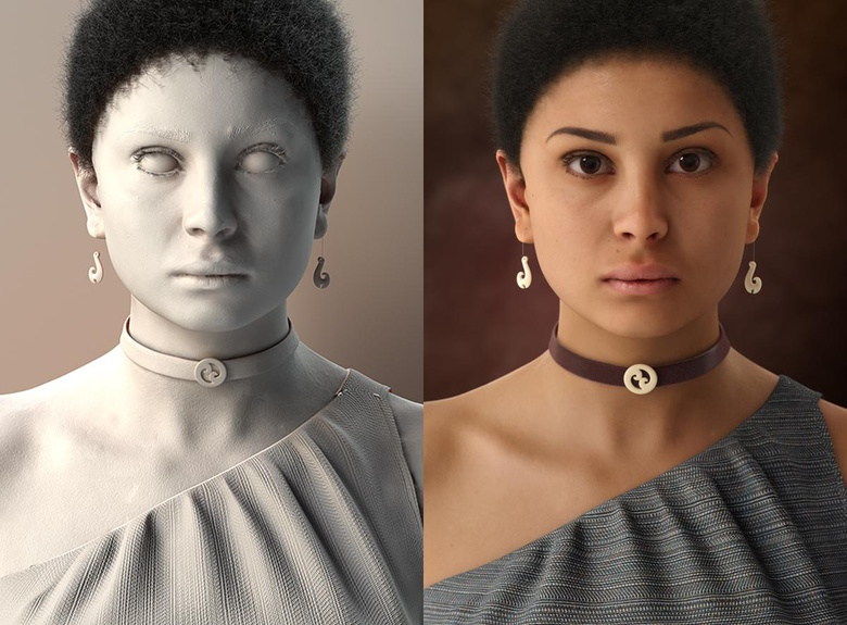 In this part of the tutorial series, we'll take a look at the lighting, Render Outputs and post work to finalize a 3D portrait