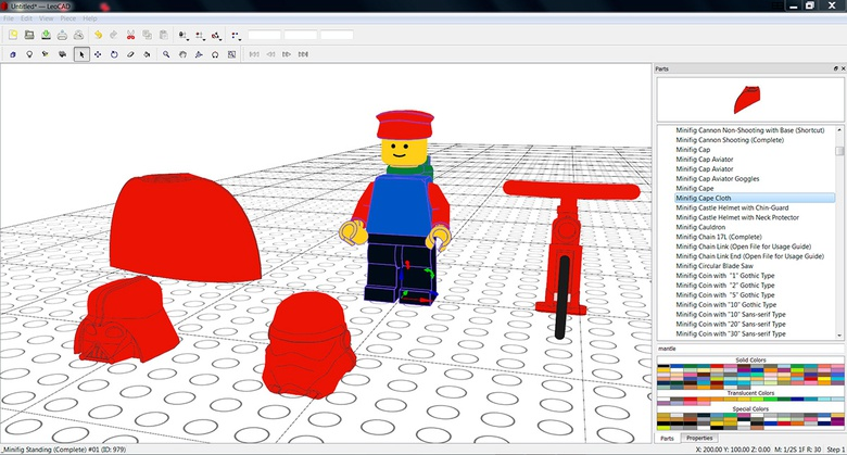 Playing with Lego in Leocad