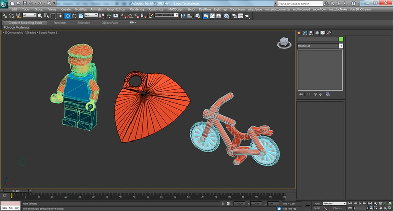 Importing the scene into 3ds Max