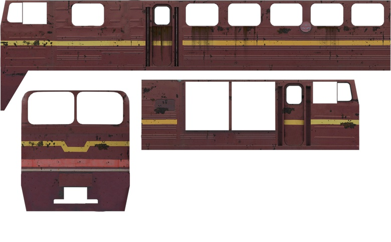 One of the textured train models
