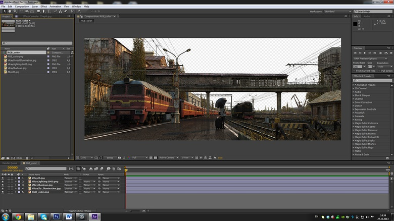 The composition of the image in After Effects