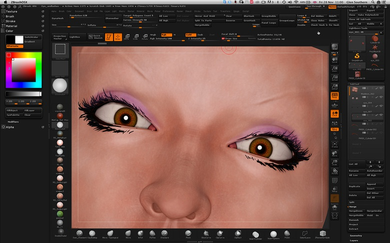 3D tip of the day - ZBrush eyelashes using Shadowbox · 3dtotal