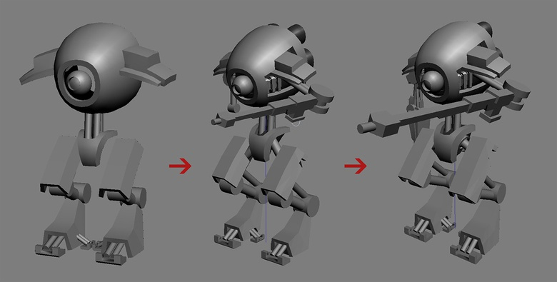 Adjusting shapes and proportions with the base meshes
