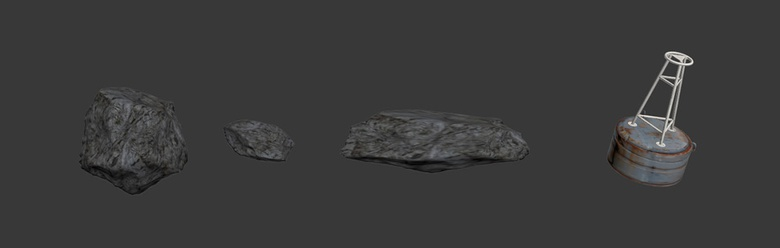 Some of the small model assets