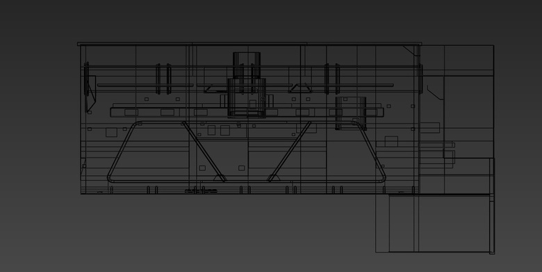 This is the basic wireframe for the scene