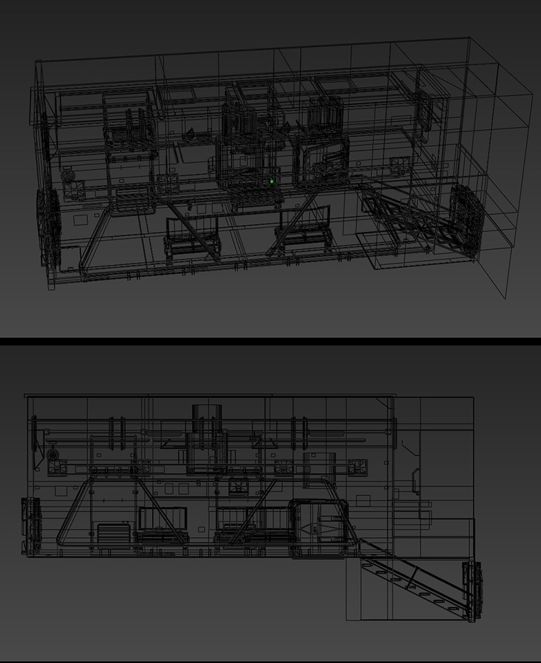 Max wireframe model of the final