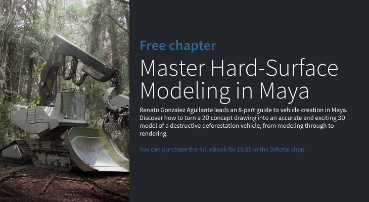 Master hard-surface modeling in Maya · 3dtotal · Learn