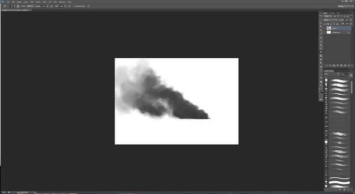 Painting in the smoke, thinking about the wind direction