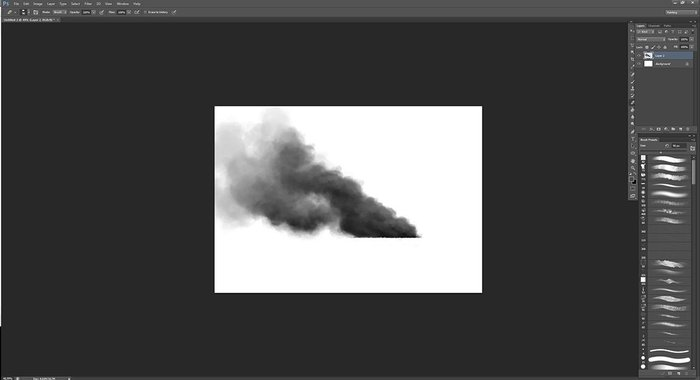 Adding a third dimension to the smoke using shadow and highlights