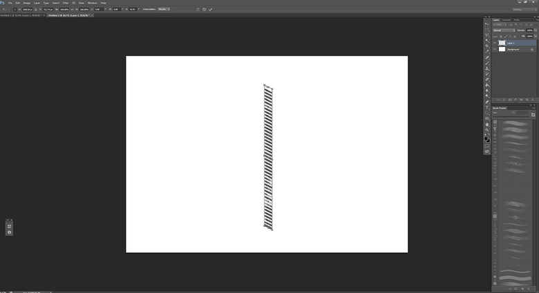 Adjusting the angle with the perspective tool