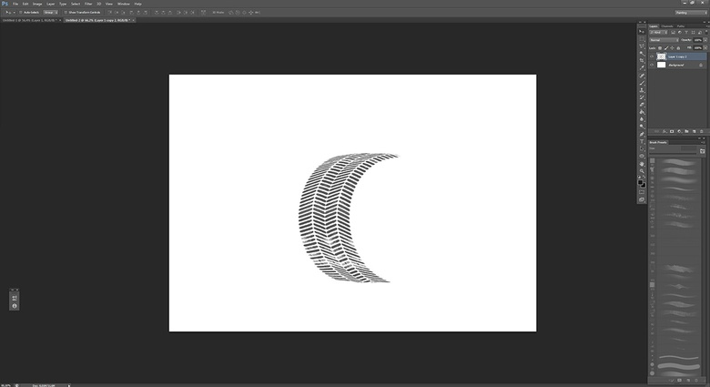 Warping the image to make it fit the shape of a tire