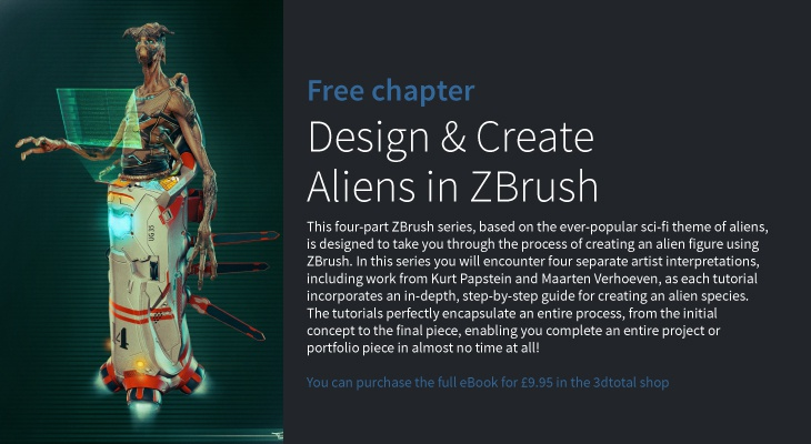 Design and create aliens in Zbrush · 3dtotal · Learn